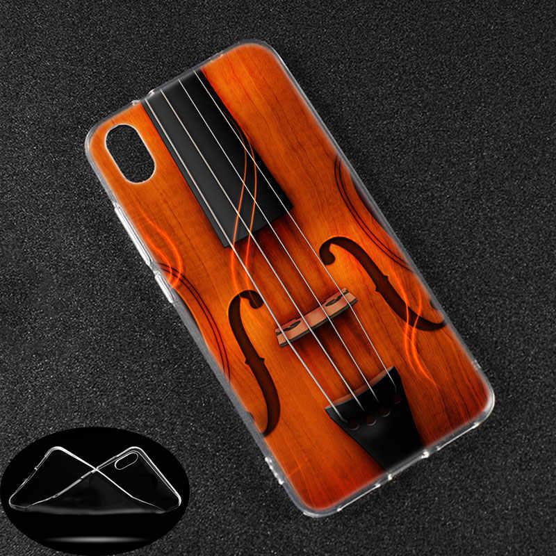 Funda de TPU notas musicales piano violín música clásica para Xiaomi Redmi K20 Pro 7 7A 6 6A 4X5 más S2 ir Nota 8 7 6 5 4 Pro