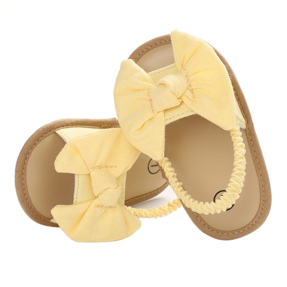 2020 Baby Girls Bow Knot Sandals Cute Summer Soft Sole Flat Princess Shoes Infant Non-Slip First Walkers 3