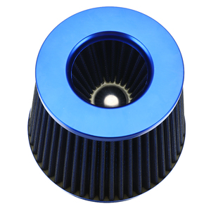 Image 3 - New Car Air Filter Performance High Flow Cold Intake Filters Induction Kit Sport Power Mesh Cone 55MM to 76MM Auto Accessories