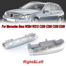 2pcs Car Left & Right Bumper DRL Fog LED Light For Mercedes-Benz W204/S204 W212 R172 C230 C250 C300 C350 E350 E400 E550 E63AMG