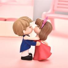 2 шт. фигурки поцелуев для влюбленных миниатюры садовая сказочная фигурка кукольный домик украшения из смолы домашний декор свадебный Рождественский подарок