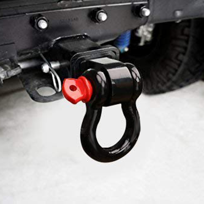 Shackle Hitch Receiver, 3/4 Inch Shackle Fitting 2 Inch Receiver Hitch, Tow Hitch Recovery For Jeep Wrangler And All Chevy/GMC,