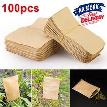 Крафт-бумаги Бумага семян конверты мини конверты-пакеты садовая сумка для хранения для растения Фрукты Крафт Бумага сумка Еда Чай маленька...