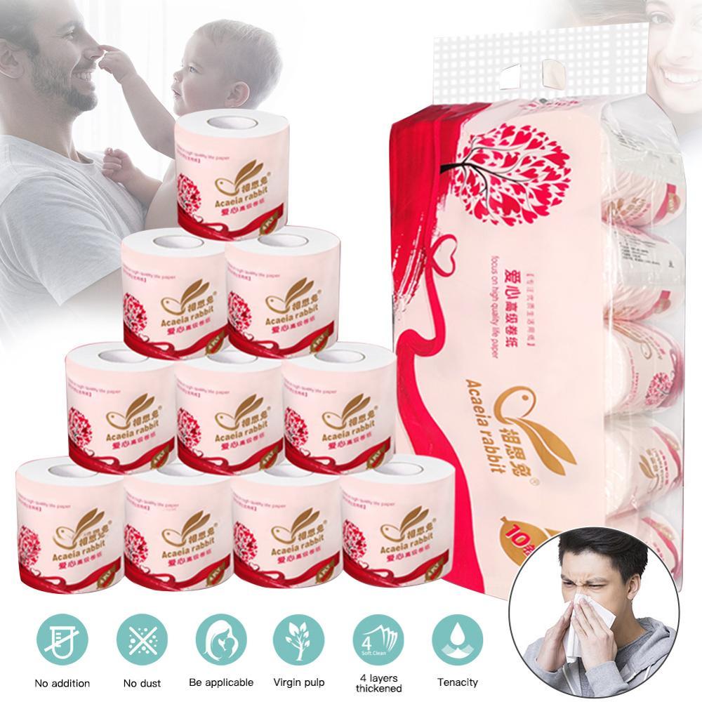 10 Rolls Toilet Paper Bulk Rolls Bath Tissue Bathroom White Soft 4 Ply Fast Wallpaper Toilet Paper