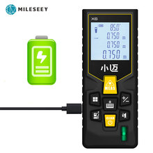 Mileseey Mini Rangefinder الرقمية ليزر مقياس مسافات الليزر شريط القياس مقياس العداد أداة 100 متر/80 متر/60 متر 40 متر ليزر Rangefinder