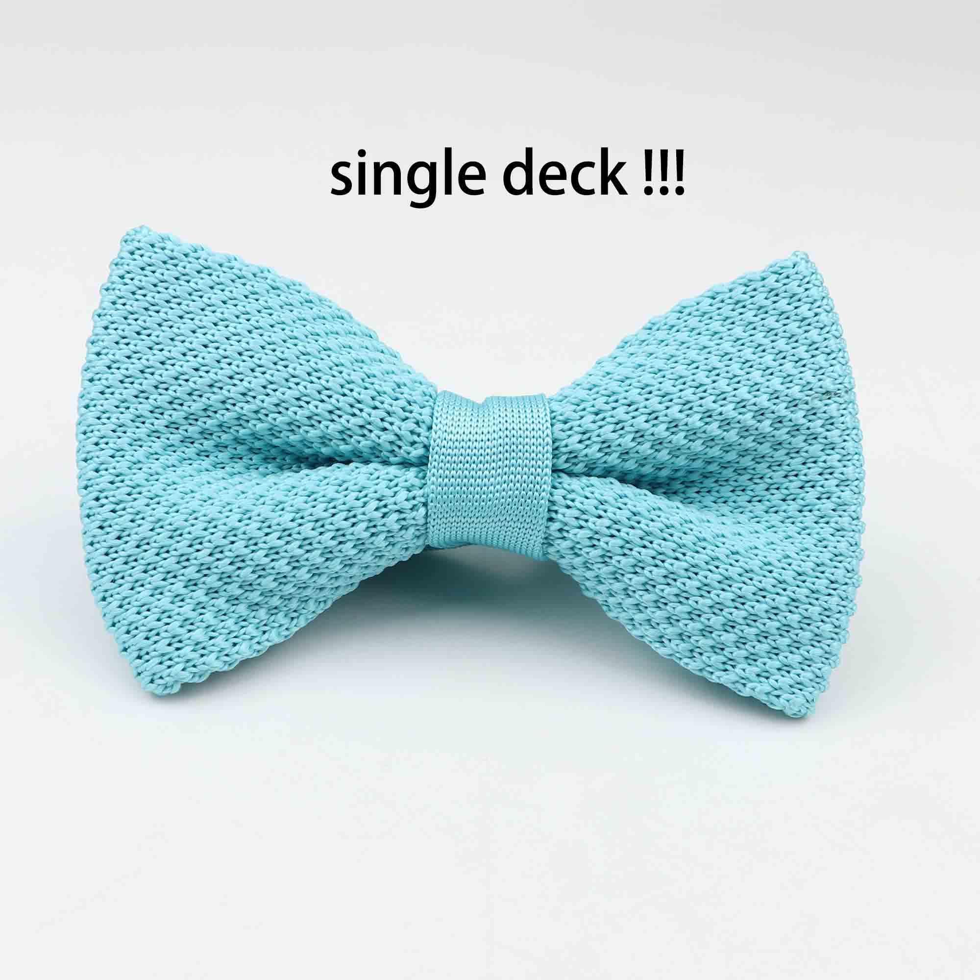 Мужские галстуки для шеи, смокинг, вязаная бабочка, Одноцветный галстук-бабочка, толстый двухслойный предварительно завязанный Регулируемый вязаный Повседневный галстук - Цвет: 16
