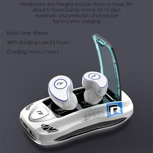 Image 3 - TWS Bluetooth イヤホン V5.0 ワイヤレスヘッドフォン IPX5 防水スポーツ 6D キャンセルヘッドセットのためのスマートフォン