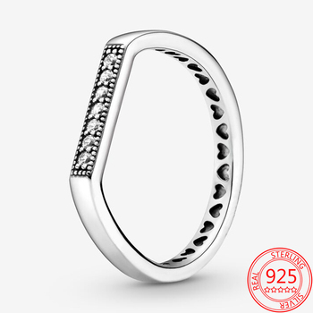 Bar Stacked Heart Ring Jewelry 925 Silver Jewelry
