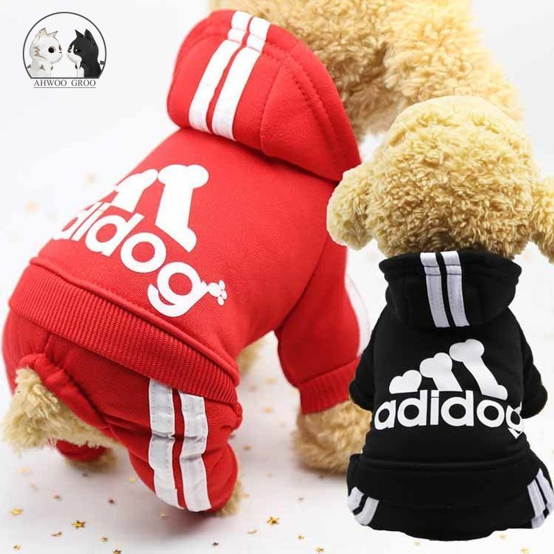 2.09US $  Dog Sports Clothes Spring and Autumn Pet Coat Jacket Soft Cotton Hoodies Outfit for Small ...