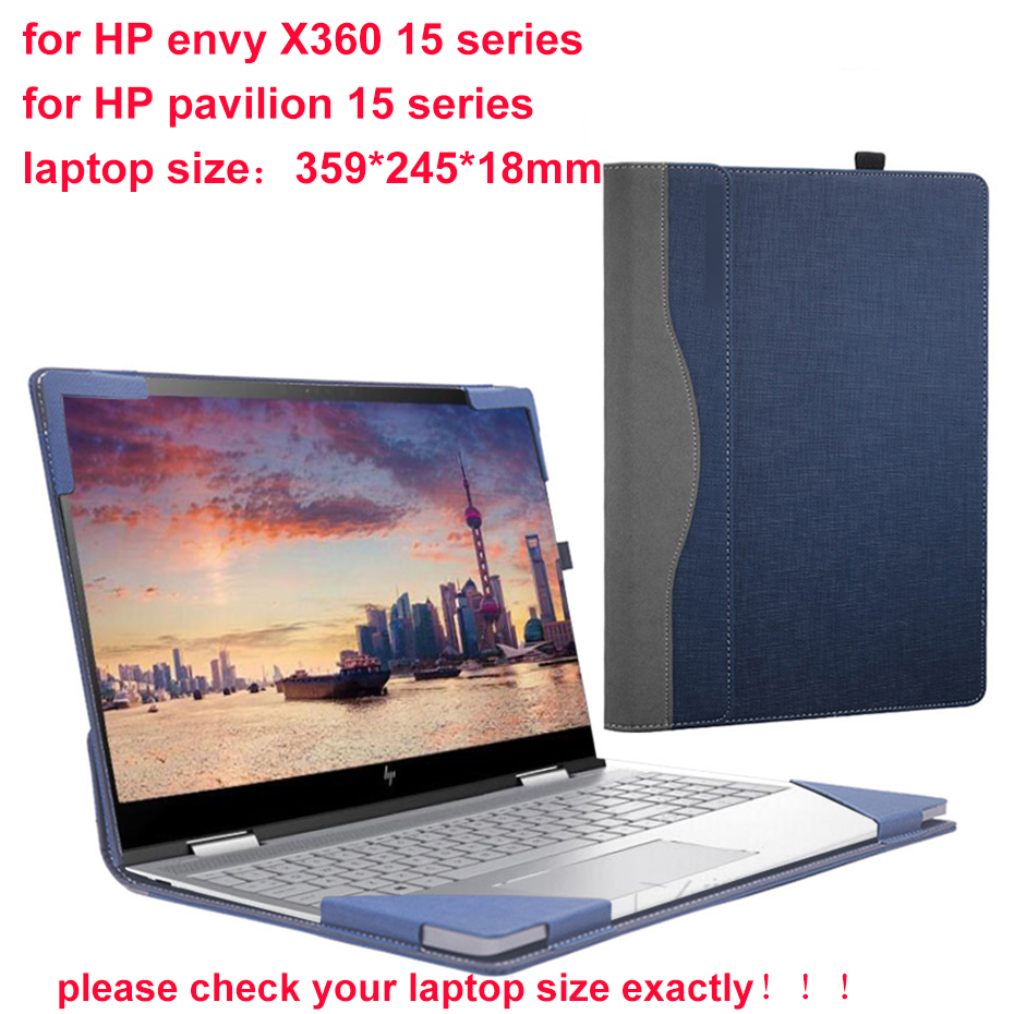 Laptop Cover For <font><b>Hp</b></font> <font><b>Envy</b></font> <font><b>X360</b></font> <font><b>Convertible</b></font> 15 15.6 Sleeve Case For <font><b>Hp</b></font> Laptop Pavilion 15s Pu Skin Notebook Bag Gift image