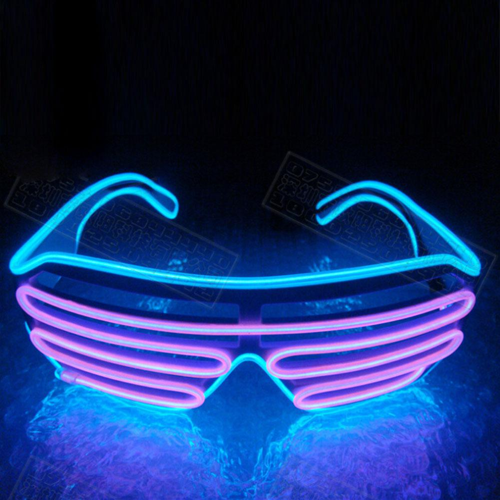 Double-color Luminous Glasses Light UP Shades Type Glasses Flashing Christmas Activities Wedding Birthday Party Decoration