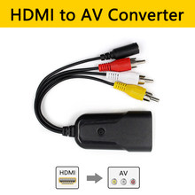 HDMI untuk AV/CVBS 3RCA Composite Video Audio Converter HDMI2AV Adaptor Dukungan NTSC/Pal untuk Video Player PS4 Kamera DVD(China)