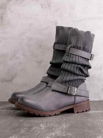 Disputent/Новое поступление; сезон осень-зима; Модные эластичные сапоги до колена; женские пикантные ботинки; большие размеры