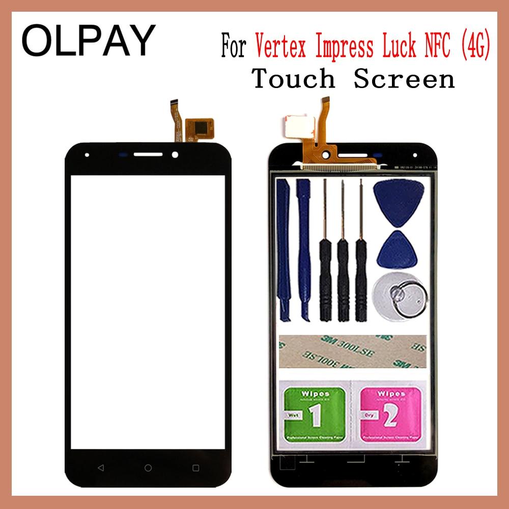 5.0'' Inch Mobile Phone TouchScreen For Vertex Impress Luck NFC (4G) Touch Screen Glass Digitizer Panel Lens Sensor Glass Repair