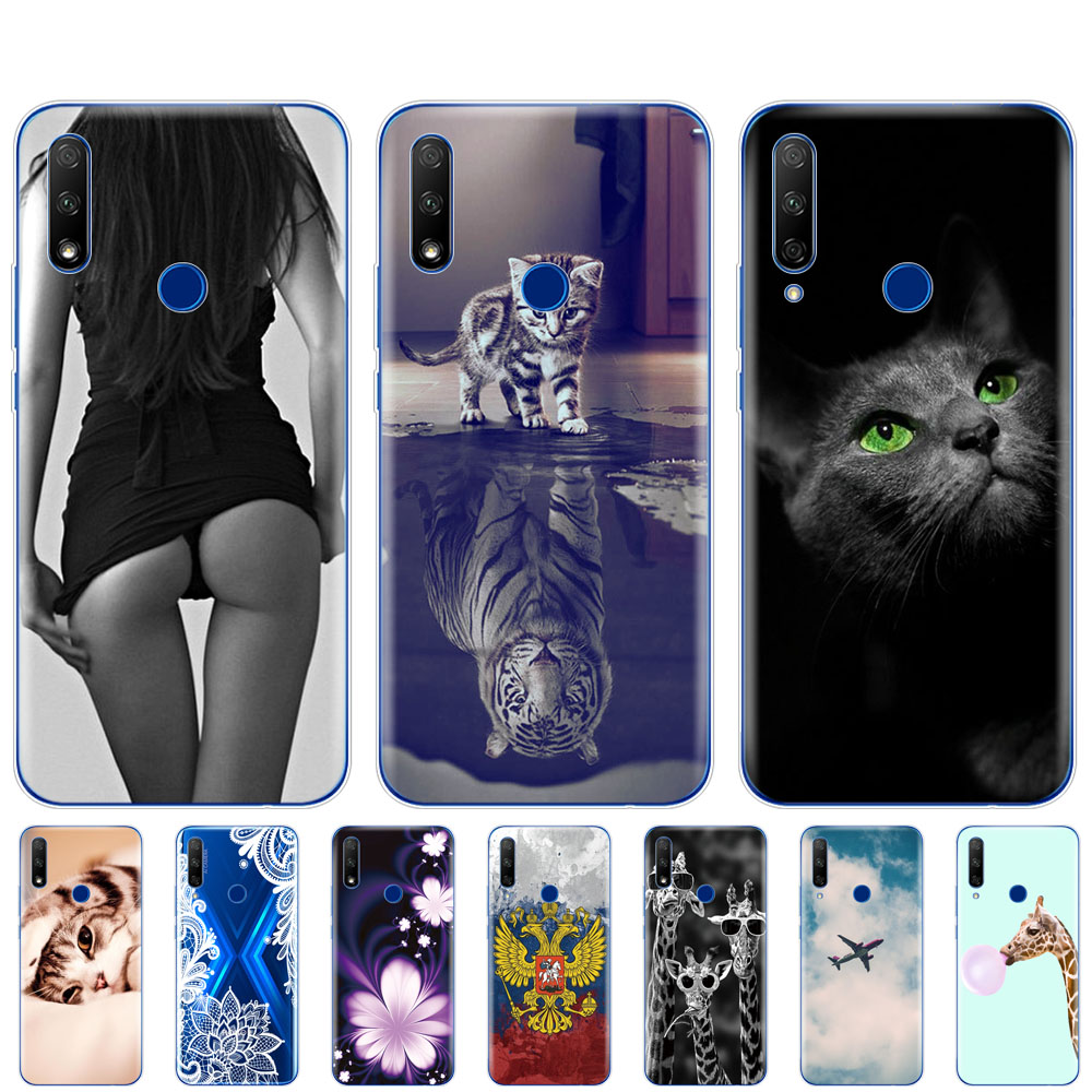 Silicon Case For Huawei Honor 9x Case Soft TPU Phone Back Cover For Honor 9x Premium Fingerprint Hole Russian 5.69 Inch Coque