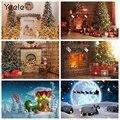 Рождественский фон Yeele для фотосъемки новорожденных с изображением камина зимнего снега окна для студийной фотосъемки
