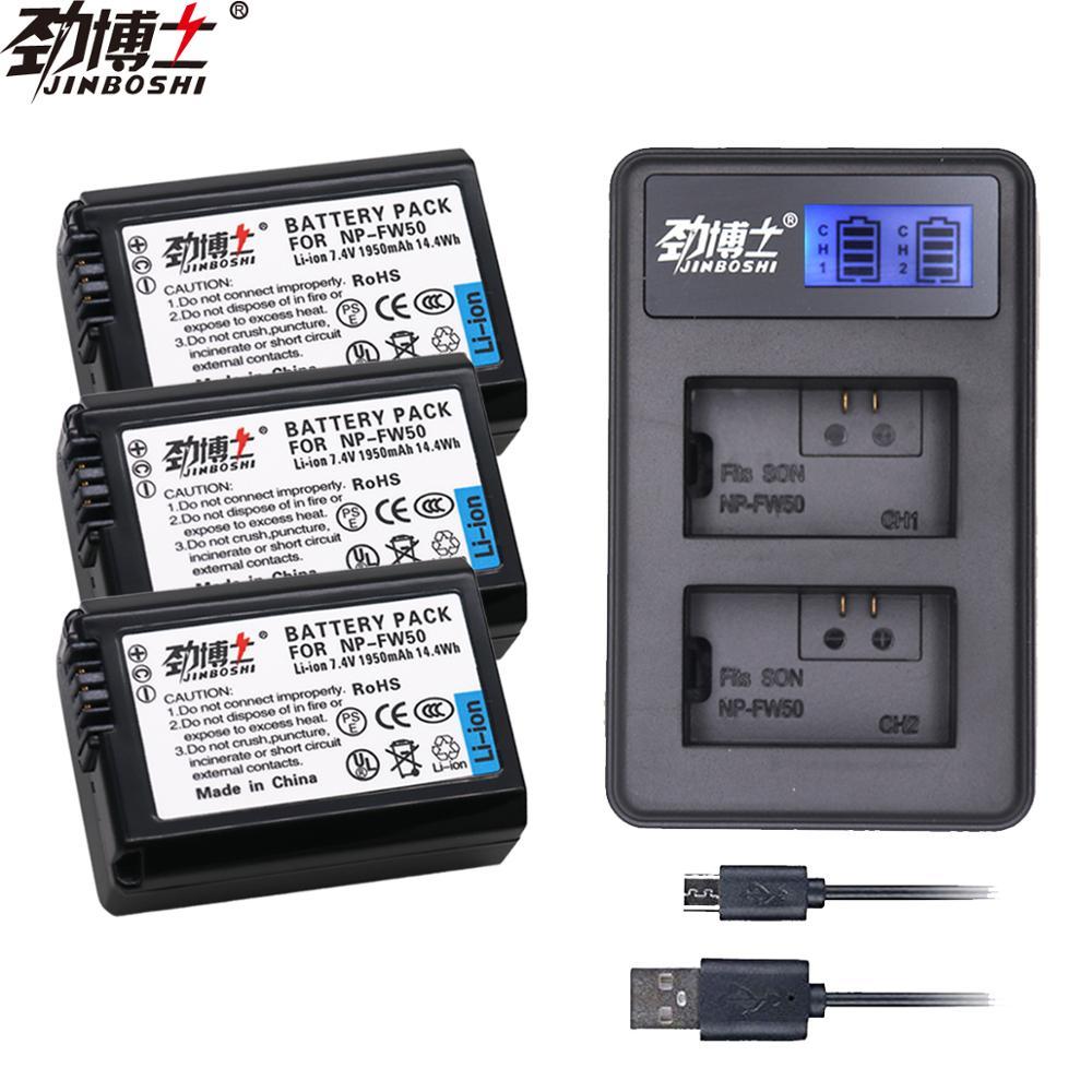 Cargador para Sony A7 A7R A7S A6000 II A5000 NEX 5T 3N Alpha 2x NP-FW50 Batería