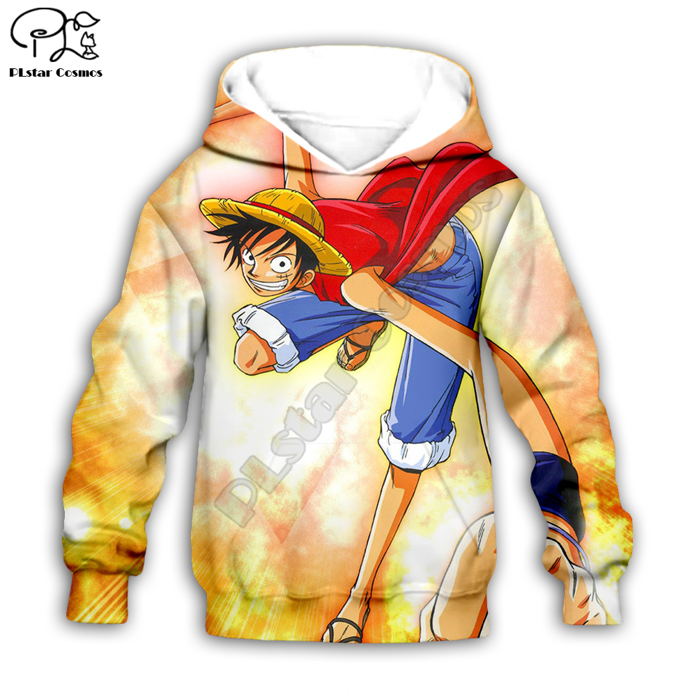 One piece 3d printed Hoodies Children zipper Pullover boys/girls Anime Sweatshirt Tracksuit Hooded/pants/family t shirt style-1
