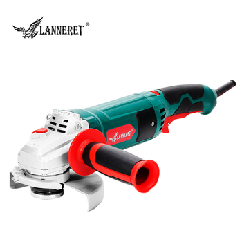 LANNERET 1050W Electric Angle Grinder 125mm Variable Speed 3000-10500RPM Toolless Guard for Cutting Grinding Metal or Stone Work