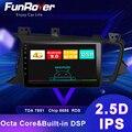 Funrover Android 9 0 2 5 + ips DSP автомобильный Радио Мультимедиа Видео плеер для Kia K5 Optima2011-2015 gps Навигация dvd 2 din Авторадио