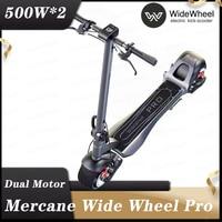 Mercane-monopatín eléctrico WideWheel PRO, patinete de dos ruedas Dual, Kickscooter con freno de disco de doble Motor, Hoverboard Mercane, rueda inteligente