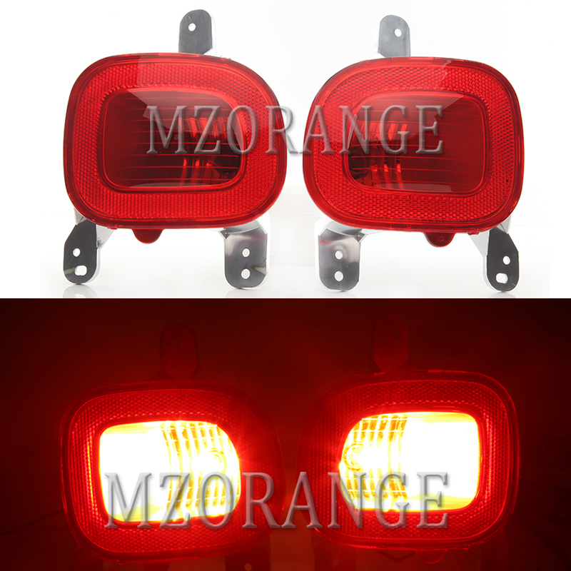 MZORANGE Rear Bumper Reflectors Rear Fog Tail Lamps with Bulb For Jeep Renegade 2015-2018 car assembly Taillights