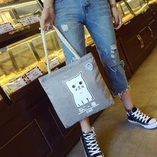 Canvas Bag Korean Style women Large Capacity Casual Hand Shopper Calico bag