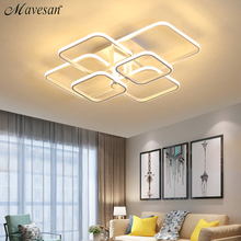 Акриловая Современная светодиодный ная Люстра для гостиной, спальни светодиодный ные люстры, большая Потолочная люстра, осветительные приборы AC85 260V