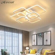 アクリル現代ledのシャンデリア寝室led lustres大天井シャンデリア照明器具AC85 260V