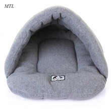 MTL Soft Fleece Winter Warm Pet Dog Bed cat cave bed dogs beds nest kennel pet for cats