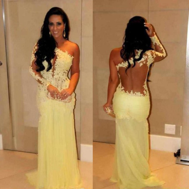 Cheap Appliques Lace One Shoulder Long Mermaid Prom Gown Formal Evening Graduation Party Gown 2020 Mother Of The Bride Dresses