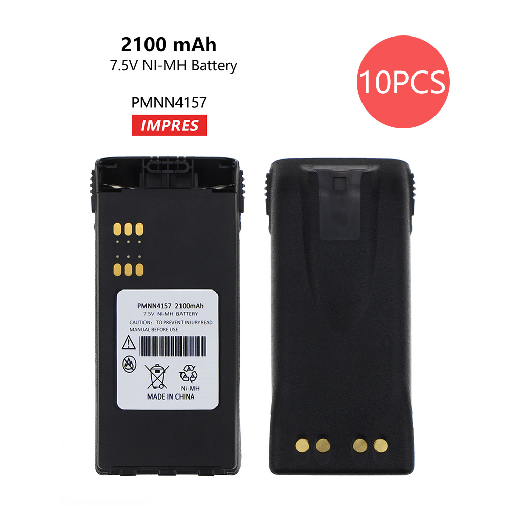 10 Pcs ATEX Rechargeable 2100mAH NI-MH Battery PMNN4157 For Atex Portable Two-way Radio GP328 GP338 PTX760 PTX700 MTX8250