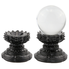Lotus-Display-Stand Lens-Ball Sphere-Holder Crystal Glass Photography Divination Magic