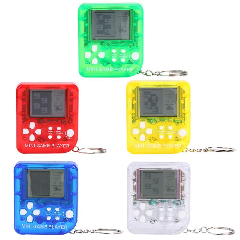 Nostalgic Retro 26 Games Console Keychain Mini Tetris Game Player for Children Gift Portable Mini font