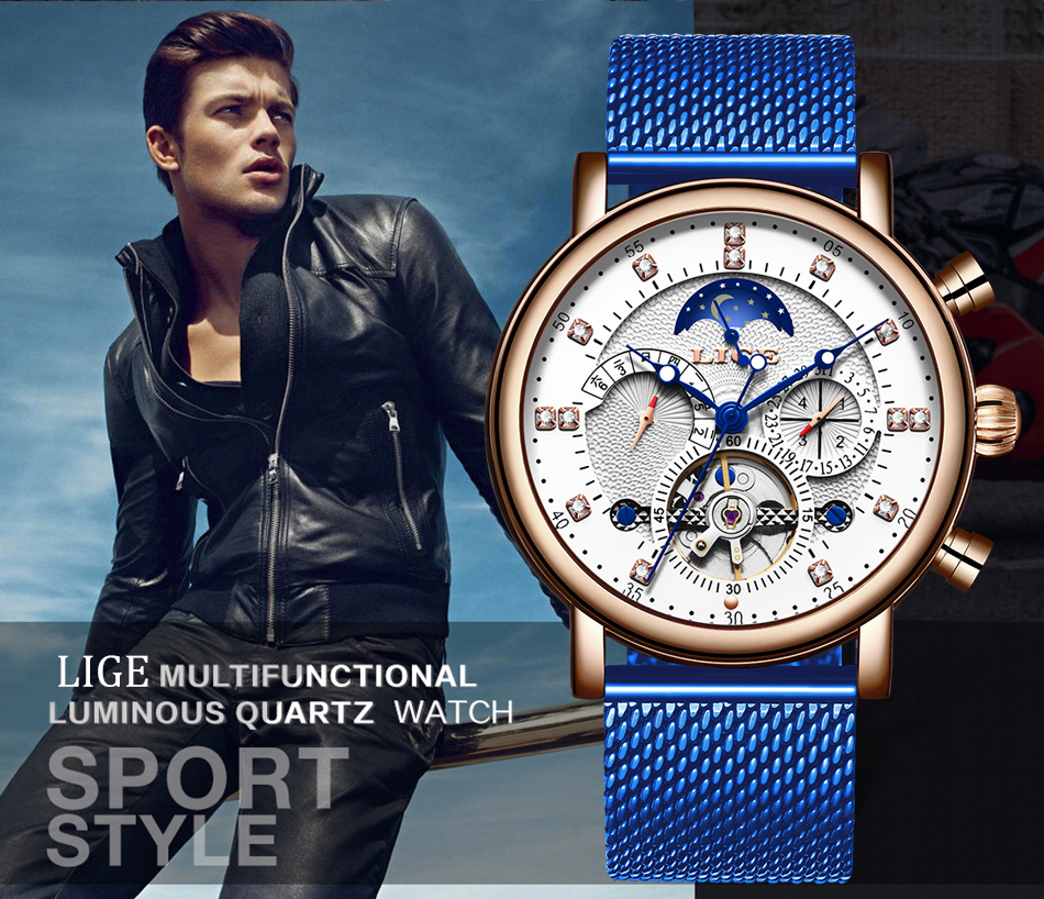 H7fcd03eaef124137bcb4fc1551d1e6adS LIGE Gift Mens Watches Brand Luxury Fashion Tourbillon Automatic Mechanical Watch Men Stainless Steel watch Relogio Masculino