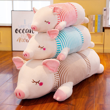 цена Cute pig plush toy super soft plush toy cute animal doll baby soothing pillow child kid birthday gift M124 онлайн в 2017 году