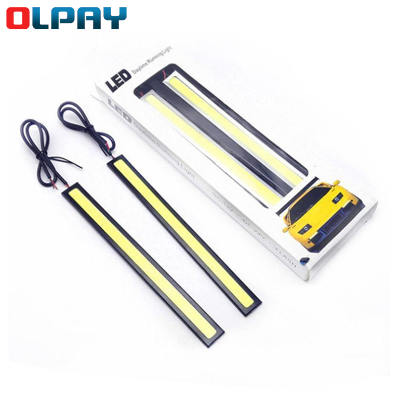 Car Daytime Running Lights COB DRL LED Universal Car Lamp External Lights Auto Waterproof Led DRL Lamp size 17cm