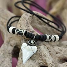 Unisexy кулон Neckleces Мода Специальный натуральный Акула Ожерелье зубы акулы зуб кулон воротник свитер вешалка Аксессуары