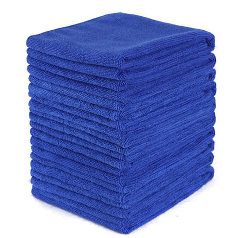 Lot Of 50Pcs Microfiber Absorbent Clean Cloth 30*30cm Blue Towels For Car Home
