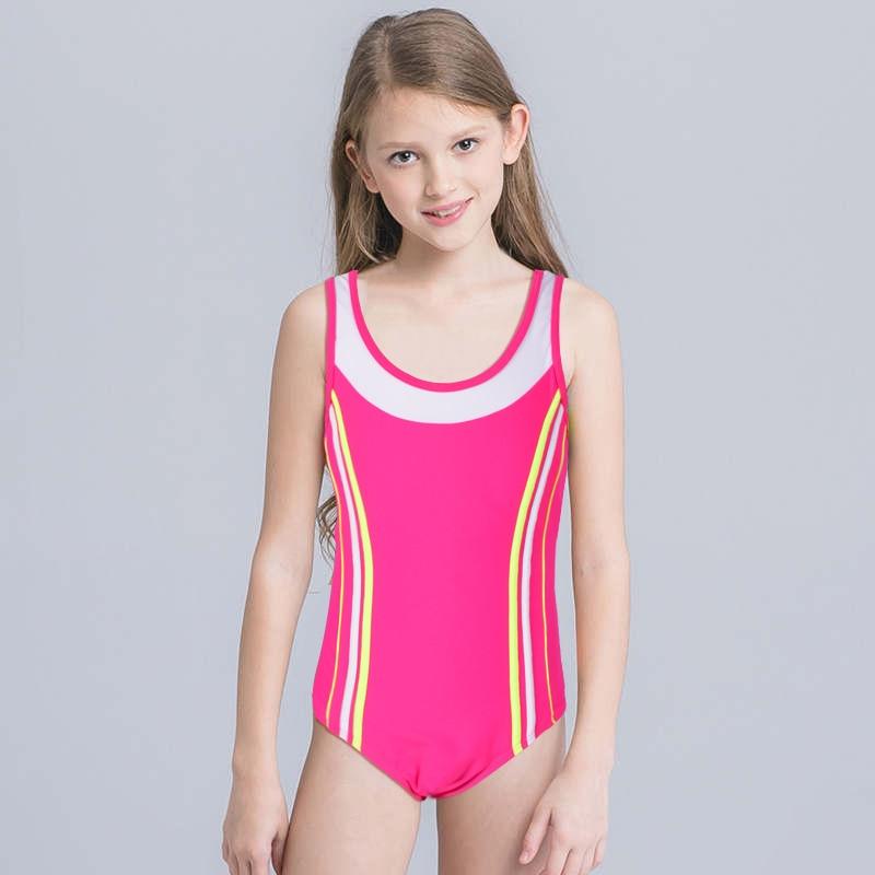 2019 KID'S Swimwear Children New Style Europe And America Hot Selling Amazon Hot Selling Swimming Students One-piece Swimwear Cu