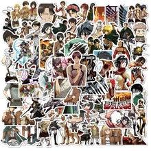 100 pçs/set ataque no titan anime adesivo dos desenhos animados para skate motocicleta scrapbookdiy brinquedo portátil snowboard bagagem