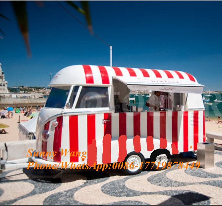 New Design Mobile Food Cart/Hot Dog Food Kiosk/Ice Cream Food Van For Sale