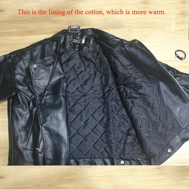 2019 New Arrival Women Autumn Winter Leather Jacket Oversized Boyfriend Korean Style Female Faux Coat Outwear Black 5