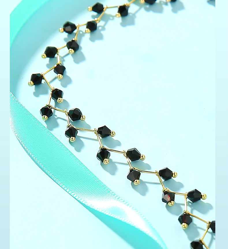 H7fcddb8624b24656aa74384d6e7093dd8 - Fashion Gold Necklace for Women Charming Black Crystal Beads Chain Chokers Handmade Party Jewelry collares Accessories