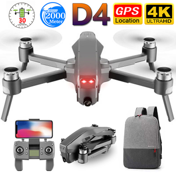 D4 Drone GPS Quadcopter HD 4K FPV 600M WIFI Live Video 1.6KM Control Distance Flight 30 Minutes mini drone With Camera dron toys