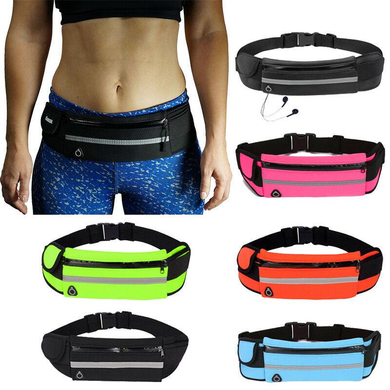 Men Women Small Running Waist Belt Bum Bag Fanny Pack Pouch Sport Gym Jogging UK