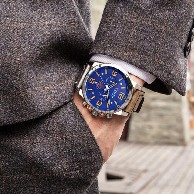 CURREN Leather Quartz Watch Wristwatch 2