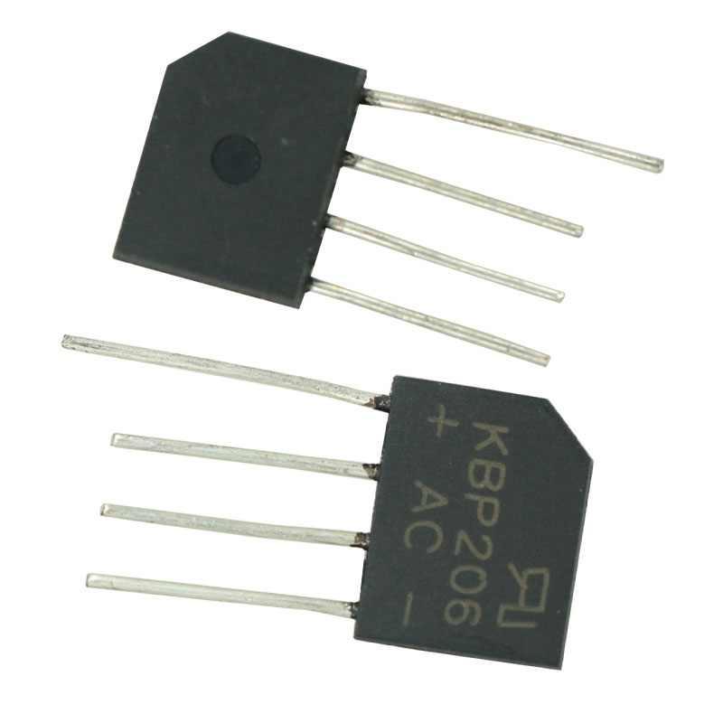 10 stücke lot NEUE Diy Elektronische Diode Bridge Rectifier 600V 2A KBP206G KBP206 4PIN SIP-4 Einphasig