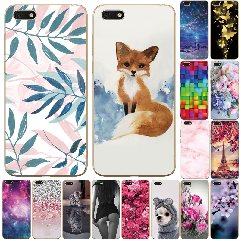 DUA-L22 Honor 7A For Huawei Honor 7A Case 5.45'' Silicone Soft TPU Back Cover Russian Case For Huawei Honor 7A Cover A7 7 A