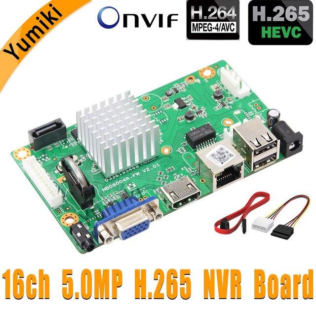 16CH * 5.0MP H.265/H.264 NVR Mạng Vidoe Đầu Ghi DVR Bảng Thông Minh Analys Camera IP SATA Dòng ONVIF CMS Xmeye